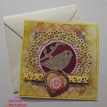 Papiernictvo - Moje srdce spieva / pohľadnicové vyznanie - 5178276_