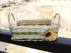 Košíky - slnečnicový košík - 5176258_