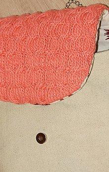 Kabelky - Lososová pletená kabelka - 5176549_