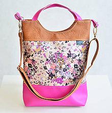 Veľké tašky - Sunset Girl Pink Flower - 5182496_