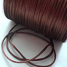 Galantéria - Satén.šnúra 1,5mm-1m (hnedá) - 5179245_