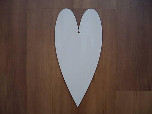 Drevené srdce 21 cm