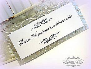 """Papiernictvo - Kartičky k svadobnému oznámeniu """"Nežne spútaní láskou"""" - 5180359_"""