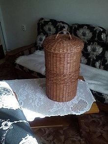 Košíky - Veľký kôš na prádlo (Hnedý kôš) - 5180120_