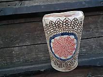 Dekorácie - Váza vo vzore Slnko - 5186722_
