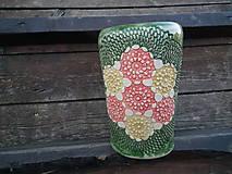 Dekorácie - Váza vo vzore Kvety - 5186794_