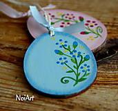 Veľká Noc - Vajíčko kvetinkové modré - 5185269_