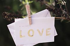 Láska v hrsti ..darčeková kartička