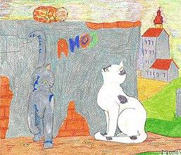 Detské doplnky - Mačiatka stále pri múre -- pastel - 5185861_