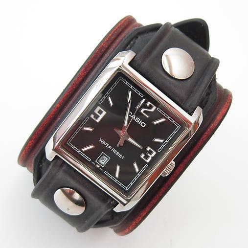 2593d1812 Pánske hodinky, kožené hnedé - čierne / leon - SAShE.sk - Handmade ...