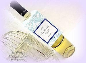 """Papiernictvo - Visačky na svadobné fľaše """"Kráľovský tyrkys"""" - 5185513_"""
