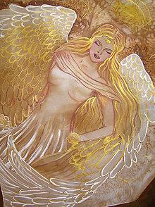 Šatky - Zlatý anjel... - 5183842_