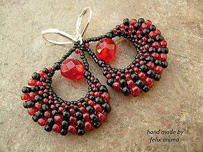 Náušnice - Le Rouge et le Noir - 5185636_