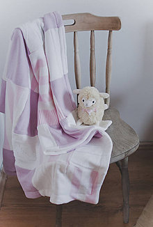 Úžitkový textil - Pink soft baby blanket - 5187276_