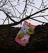 Na mobil - Zdržanlivo ružová vôňa jari, púzdro na mobil - 5187113_