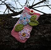 Na mobil - Zdržanlivo ružová vôňa jari, púzdro na mobil - 5187114_