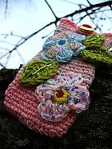 Na mobil - Zdržanlivo ružová vôňa jari, púzdro na mobil - 5187115_