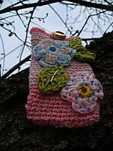 Na mobil - Zdržanlivo ružová vôňa jari, púzdro na mobil - 5187116_