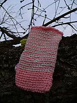 Na mobil - Zdržanlivo ružová vôňa jari, púzdro na mobil - 5187117_