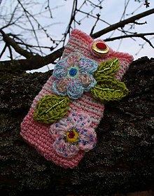 Na mobil - Zdržanlivo ružová vôňa jari, púzdro na mobil - 5187112_