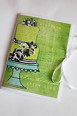 Papiernictvo - Na svadobné poznámky - A5 zelený - 5189895_