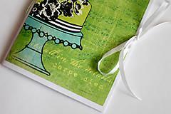 Papiernictvo - Na svadobné poznámky - A5 zelený - 5189896_