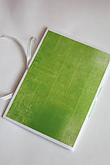 Papiernictvo - Na svadobné poznámky - A5 zelený - 5189897_