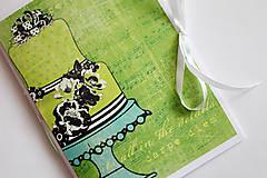Papiernictvo - Na svadobné poznámky - A5 zelený - 5189898_
