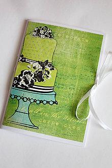 Papiernictvo - Sladký receptár - A5 zelený - 5189895_