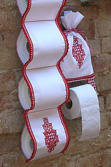 Úžitkový textil - Súprava SRDIEČKO na WC - 5190063_