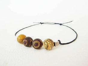 Šperky - Pánsky energický náramok s achátom a jaspisom - 5188470_