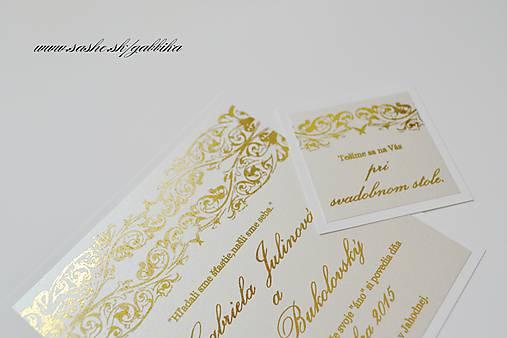 00b623743841 Zlaté svadobné oznámenie