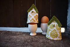 Dekorácie - kryt na vajíčka zelený - 5187712_