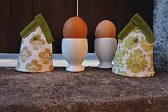 Dekorácie - kryt na vajíčka zelený - 5187713_