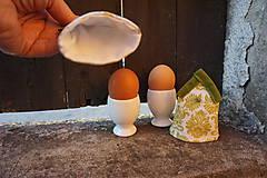 Dekorácie - kryt na vajíčka zelený - 5187714_
