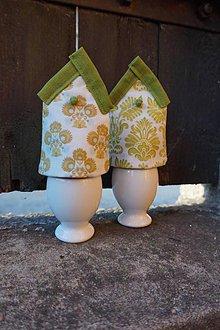 Dekorácie - kryt na vajíčka zelený - 5187715_