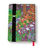 Papiernictvo - Zápisník A6 Anglická záhrada - 5189296_
