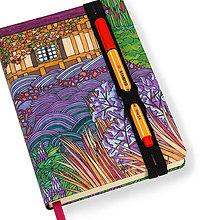 Papiernictvo - Zápisník A6 Anglická záhrada - 5189295_