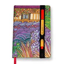 Papiernictvo - Zápisník A6 Anglická záhrada - 5189297_