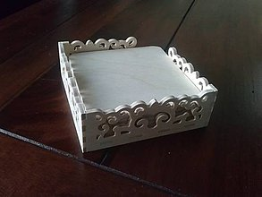 Polotovary - Set vyrezávaná krabička+6podkladov pod poháre, ihneď - 5187718_