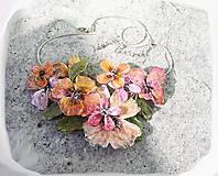 Náhrdelníky - vintage flowers 5 náhrdelník - 5192183_