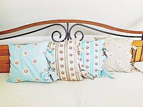 Úžitkový textil - Romantické vankúše s mašľami - 5191681_