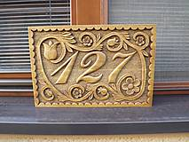 Dekorácie - Tabuľa číslo domu - 5194384_