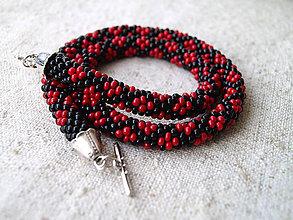 Náhrdelníky - čierno-červený - 5192204_