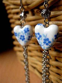 Náušnice - Modré kvietky č.1441 - 5194037_
