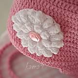 Detské čiapky - Prechodná ušianka... popcornový kvet - 5195664_