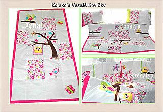 Textil - Prehoz z kolekcie Veselé Sovičky 90x200cm - 5199393_
