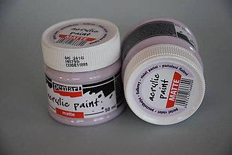 Farby-laky - Matná akrylová farba, pastelová fialova - 5197917_