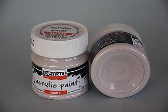 Farby-laky - Matná akrylová farba, Country ružová, 50 ml - 5197956_