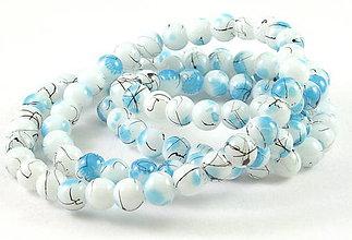 Korálky - Sklenená korálka Pennello blafard - 5196068_